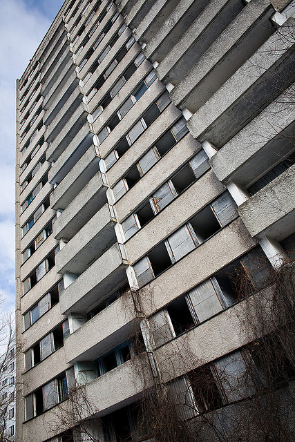 flats at Chernobyl exclusion zone