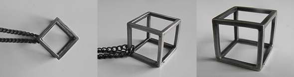 Cube Ring / Necklace - Brutal Jewellery