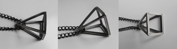 Pyramid Necklace - Brutal Jewellery