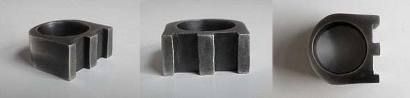3 Column Ring - Brutal Jewellery