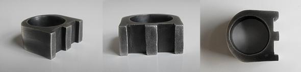 3 Column Ring - Brutal Jewellery