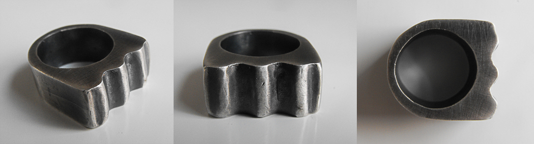 Corrugated Ring - Brutal Jewellery