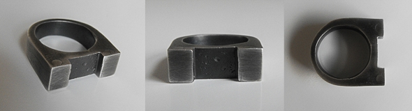 2 Column Ring - Brutal Jewellery