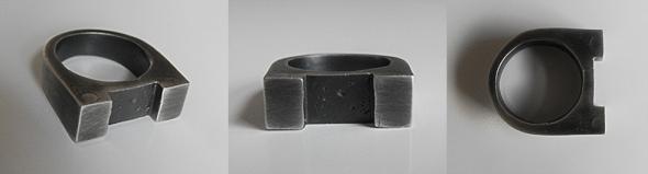 2 Column Ring - Brutal Jewellery