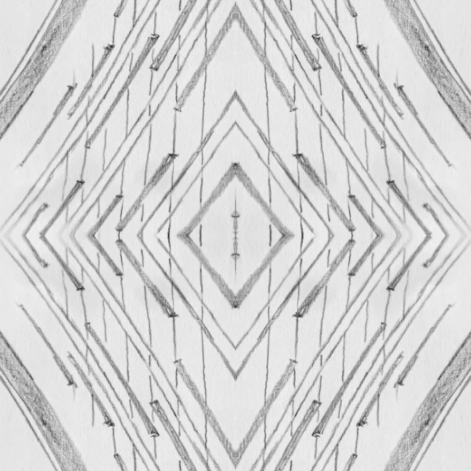 architectural pattern drawing 1 diamond