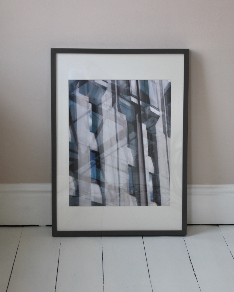 Framed abstract reflections print