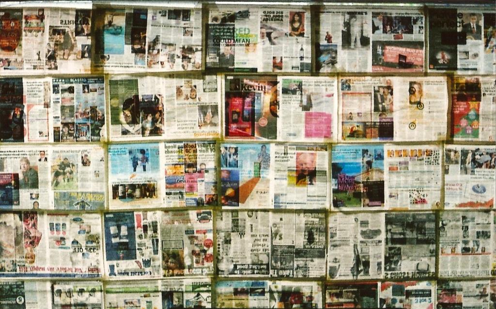 Newspaper window